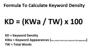ACS Creative Keyword Density Formula