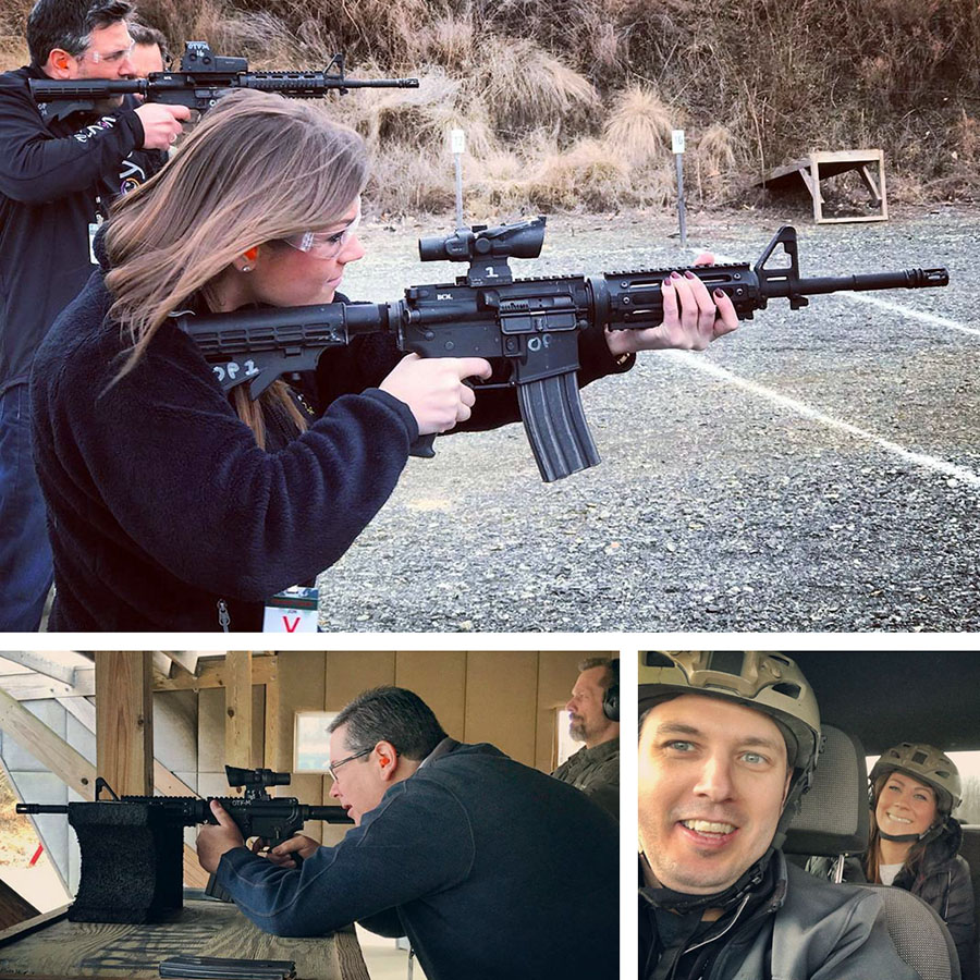 Team at Weapons Training