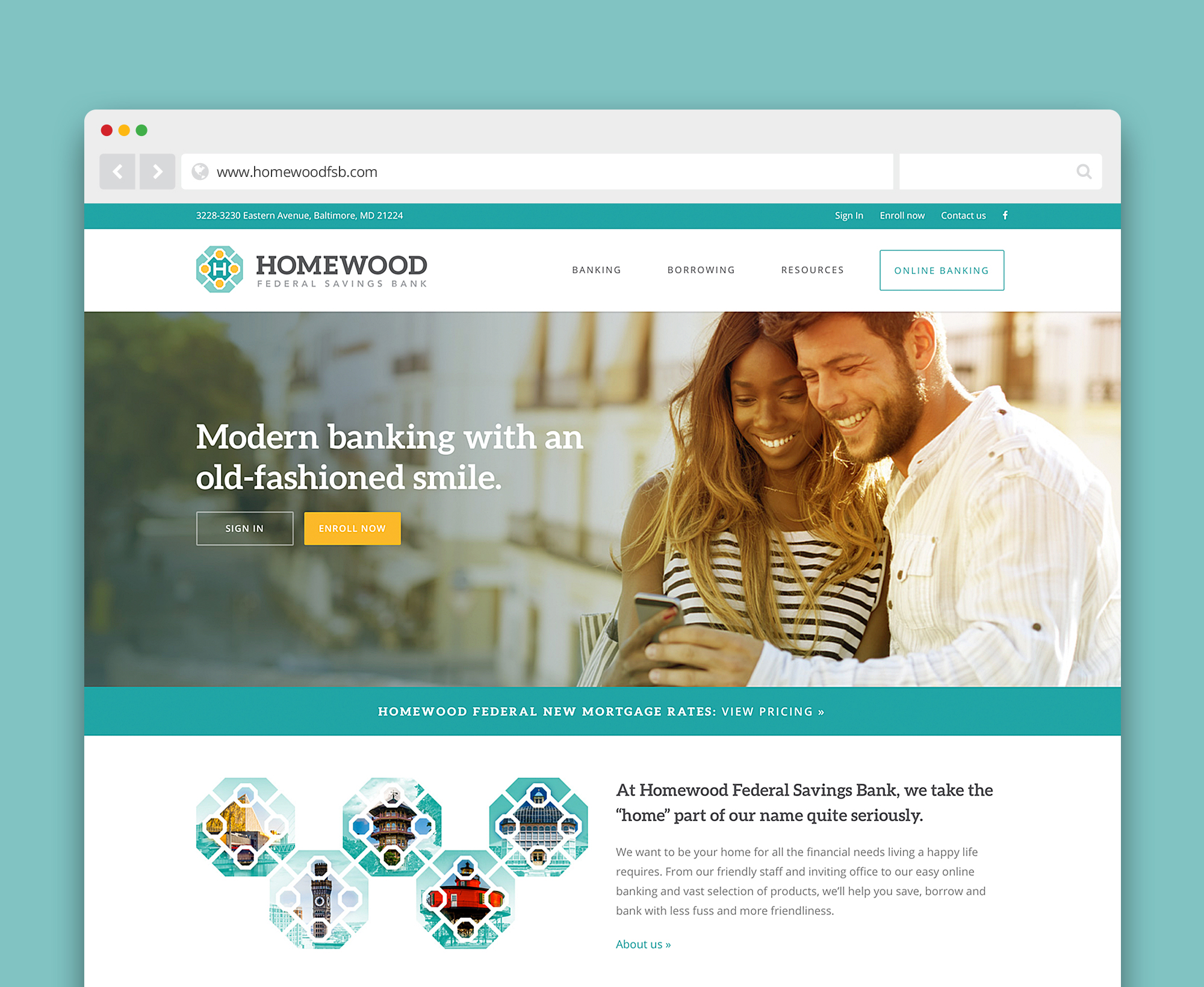 Homewood Federal Savings Bank HFSB website - designed by ACS Creative 301-528-5575